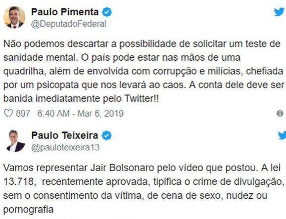 587a71aaea Jair Bolsonaro deveria ser submetido a teste de sanidade mental