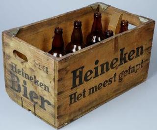 Jaren 60 - Houten krat Heineken