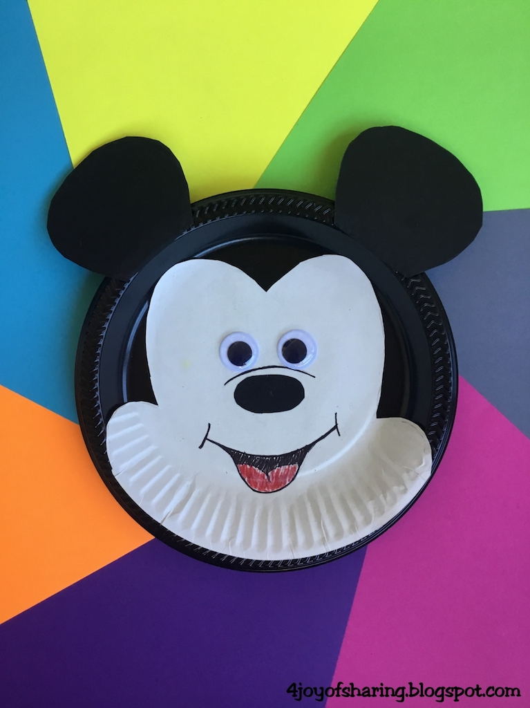 Craft for kids kids craft toddler craft easy craft fun craft & The Joy of Sharing: Paper Plate Mickey Mouse