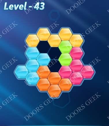 Block! Hexa Puzzle [Intermediate] Level 43 Solution, Cheats, Walkthrough for android, iphone, ipad, ipod