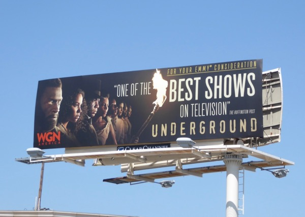 Underground season 2 Emmy FYC billboard