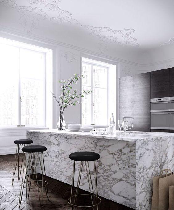 5 buoni motivi per scegliere il marmo in cucina - Coffee Break | The ...