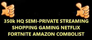 350k HQ SEMI-PRIVATE STREAMING SHOPPING GAMING NETFLIX FORTNITE AMAZON COMBOLIST