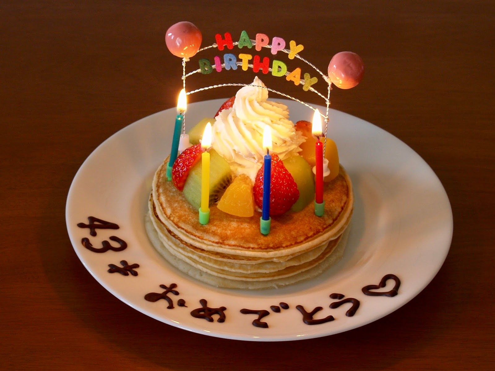 How to Make Birthday Cake Pancakes Cake Decorating Idea Japanese