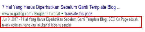 deskripsi penelusuran di pencarian google