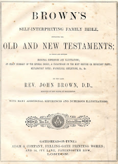Title Page from Brown's Self-Interpreting Family Bible