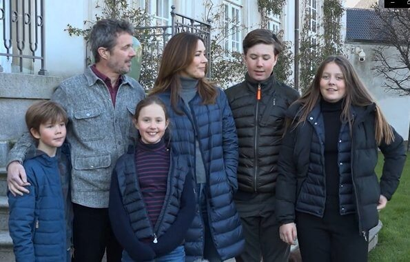 Crown Prince Frederik, Crown Princess Mary, Prince Christian, Princess Isabella, Prince Vincent and Princess Josephine