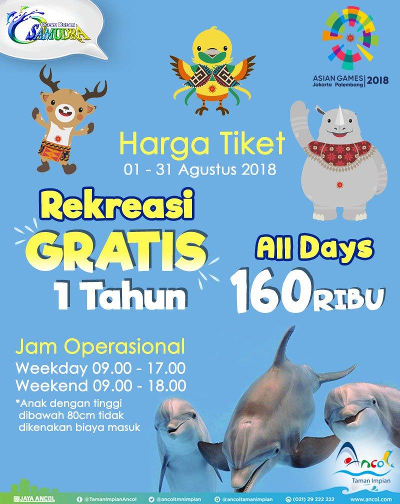 Ancol - Promo Harga Tiket Ocean Dream Samudra (Agustus 2018)