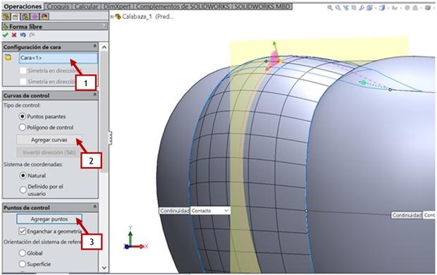 como utilizar la herramienta de forma libre para deformar la superficie