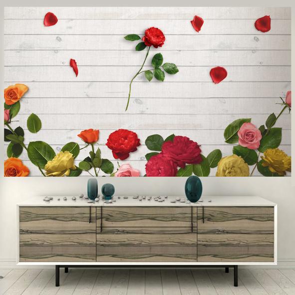 Tranh Tường hoa hồng