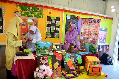 Pameran hasil kerja murid SMK Jerlun bagi pembelajaran berasaskan projek