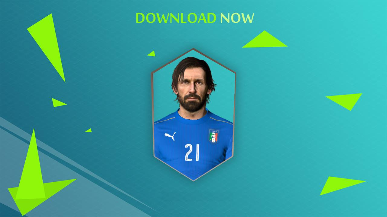 PES 2017 Pirlo Face by Shenawy