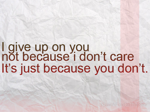 You Gave Up Quotes: Quotes You Won T Give Up On. QuotesGram