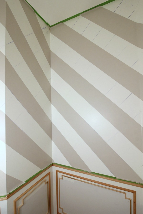 Hand Painted Gingham Wall Tutorial Dimples And Tangles