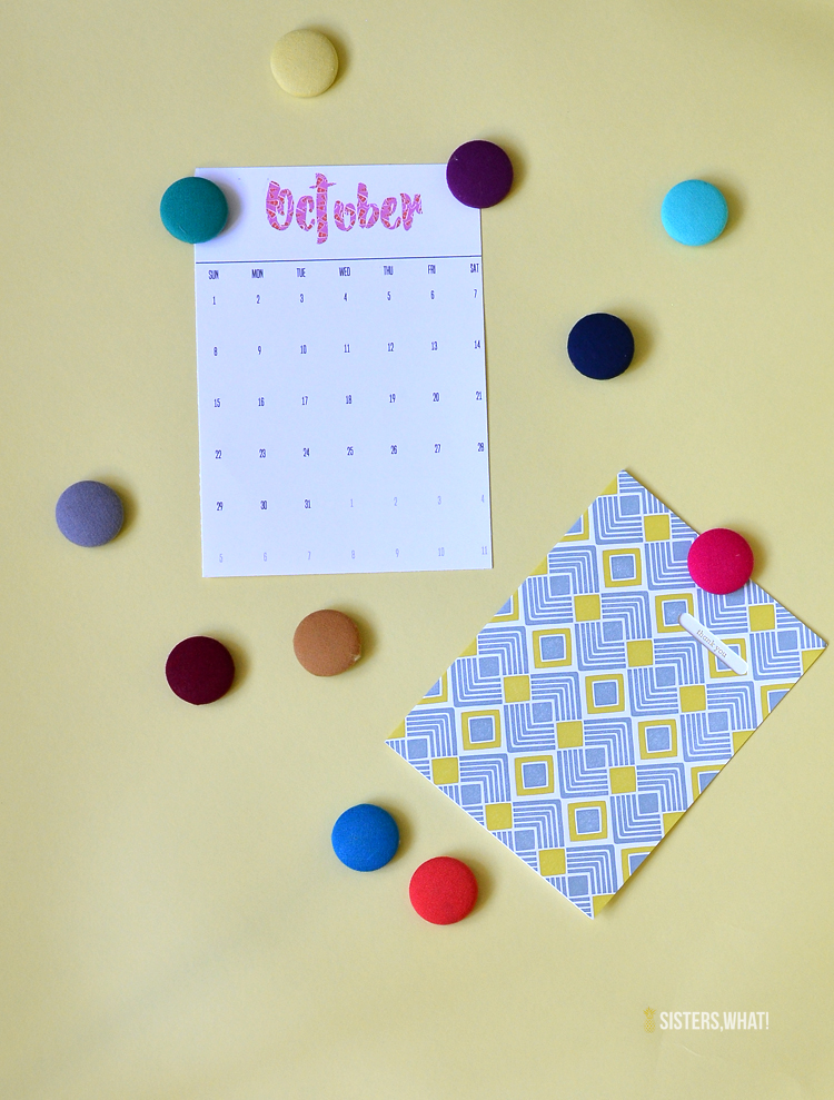 use kona solids samples or fabric stash to make cute button magnets
