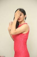 Sakshi Kakkar in Red Legsplit Sleeveless Gown at Dare movie Press meet ~  Exclusive 018.JPG