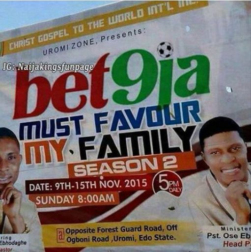 When Your Pastor Is Into Betting...