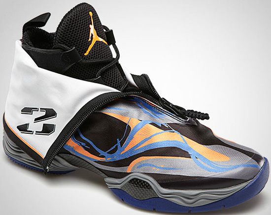 new product 6f2dd 8a6d6 The Air Jordan XX8 is set to release next month, with two new colorways. First  up is this black, bright citrus and cool grey pair.