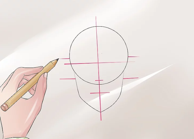 Cara Menggambar Kepala Tampak Depan ala Manga