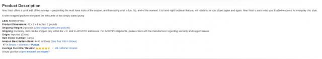 Fijandote en la descripción del producto podemos encontrar frases de keywords relacionadas con el producto