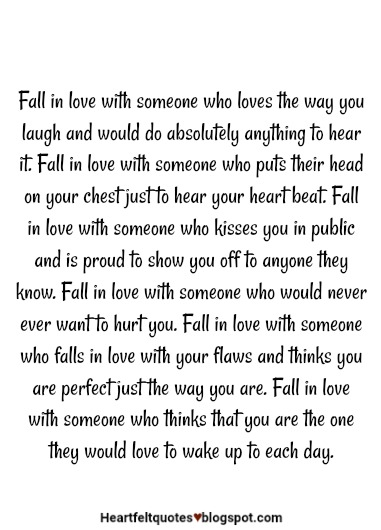 Fall In Love With Someone Who Would Never Ever Want To Hurt You