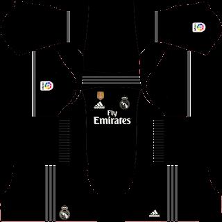 Baju Dream League Soccer Real Madrid Away