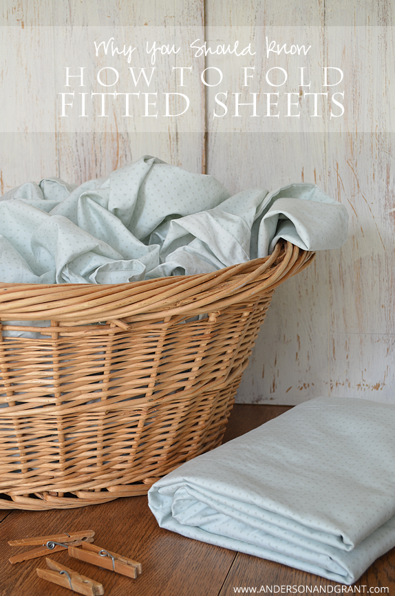 Learn why you should know how to fold a fitted sheets and the steps to take to get the job done.  @marthastewart  |  anderson + grant