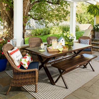 French Country Farmhouse Dining Room-Wicker Chairs-Mayhew Target-From My Front Porch To Yours