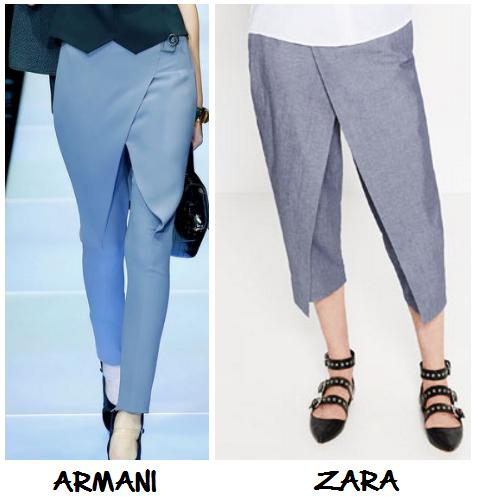 Clon pantalones Armani Zara