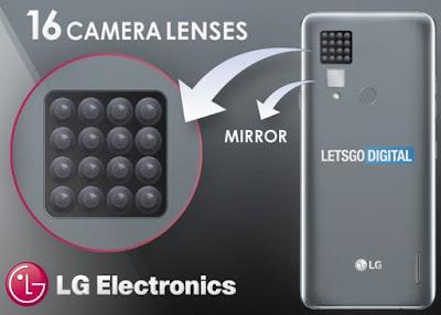 LG patentó un móvil con 16 lentes de cámara-TuParadaDigital
