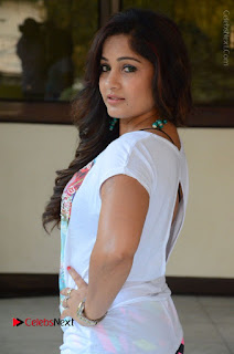 Actress Madhavi Latha Latest Stills at Swachh Hyderabad Cricket Press Meet  0026.JPG