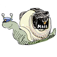 Snail mail illustration from Real Mail: The ScribbleFire Method toBuilding Better Personal Relationships by Penning an Authentic Letter by David Borden