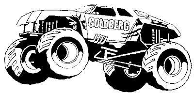 Gambar mewarnai monster truck - 7