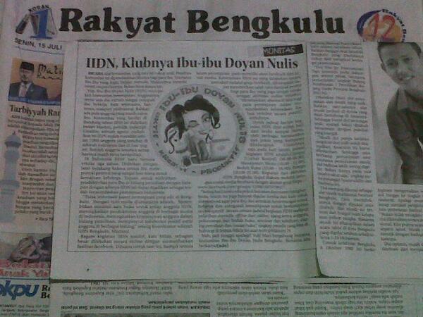 Saya dan Ibu-ibu Doyan Nulis Di Harian Rakyat Bengkulu