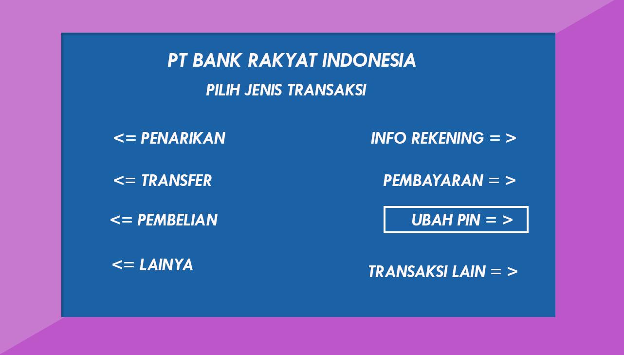 Cara Mengganti PIN ATM BRI Lewat Mesin  ATM Dengan Mudah