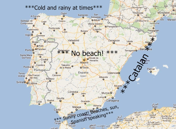 South Coast Of Spain Map.New Life In Spain Where To Go Part Ii