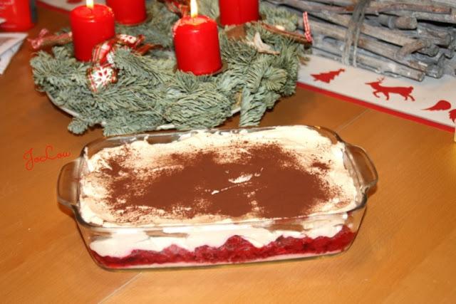weihnachtliches Spekulatius Tiramisu Rezept mit Himbeeren