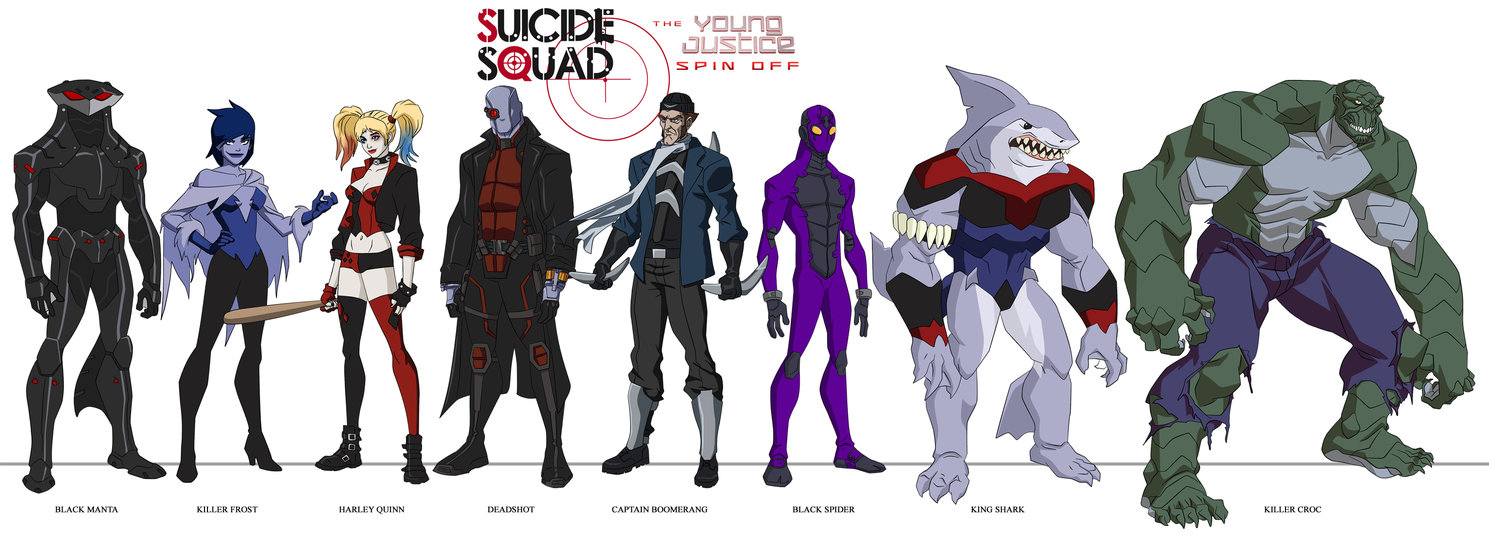 seducedthe new: suicide squad in young justice style