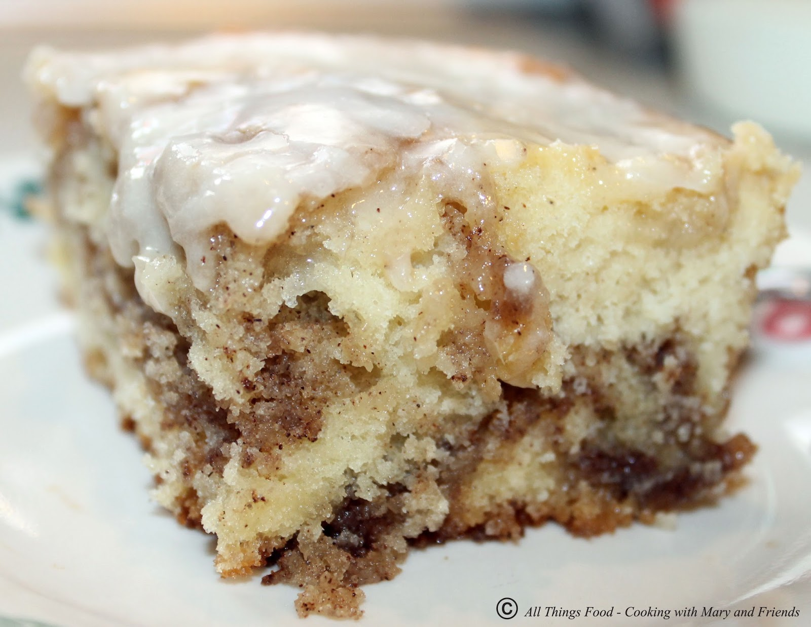cooking with mary and friends cinnamon roll cake