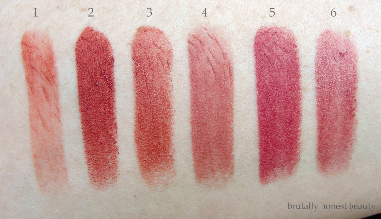 Swatches of Colourpop Blotted Lip in Candyfloss