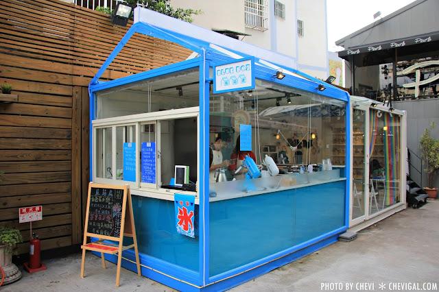 IMG 0354 - 一中商圈│藍箱處Blue Box-分子冰淇淋雞蛋仔*少女心的清爽夢幻逸品。隱身在巷弄間的IG打卡新景點