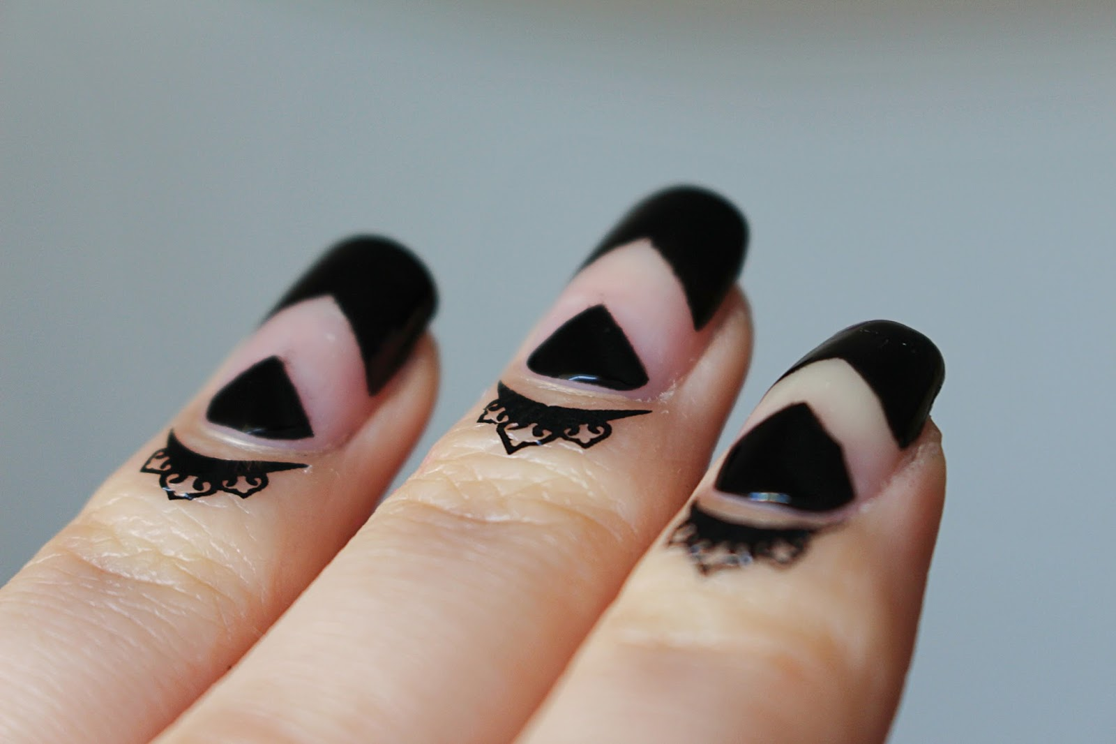 Cuticle Tattoo black nails gotic nails Nail Art Stickers Water Transfer Temporary Decals Lace Flower Patterns