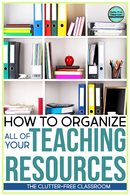 Are you looking for a solution to organizing and storing all of your teaching resources? If so, you should check out these strategies and ideas about how to store planning materials, lesson plans, books, curriculum program manuals, standards, and more!