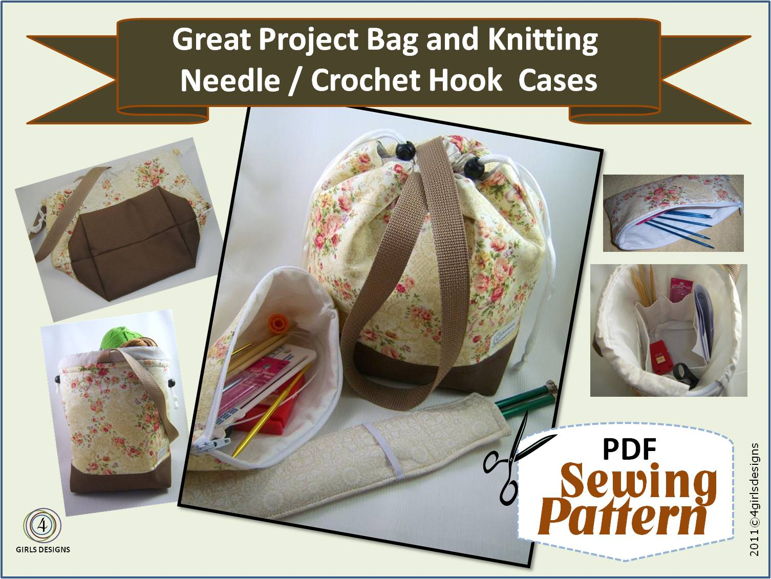 4 Girls Designs: NEW Sewing Patterns for Knitters, Crochet ...