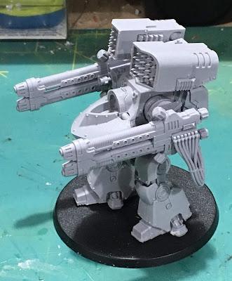 Horus Heresy First Legion Deredeo Pattern Dreadnought WIP hellfire plasma canonade