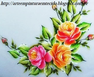 pintura em tecido passo a passo das rosas como fazer