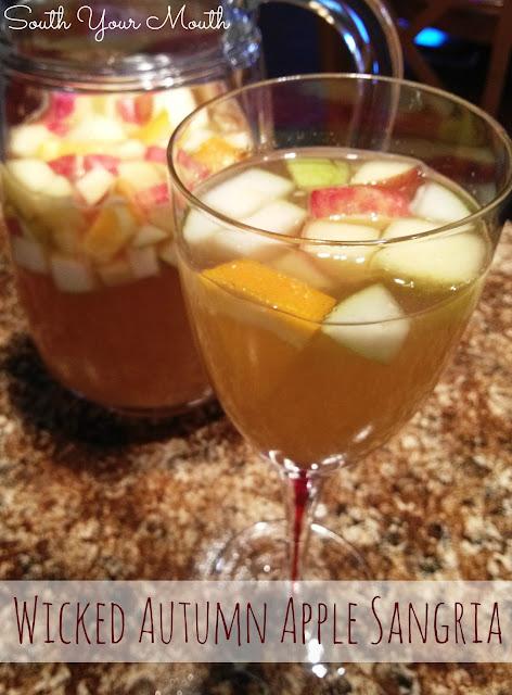Wicked Autumn Apple Sangria - the original! Honeycrisp apples, pears, apple cider, vanilla vodka, wine and a crazy secret ingredient.