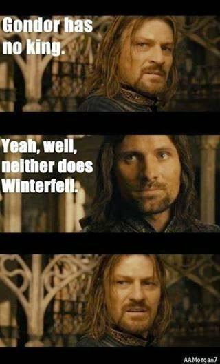 Meme de humor sobre Juego de tronos y El señor de los anillos