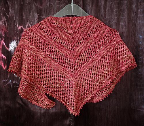 Daily Knitting Patterns Reyna Shawl