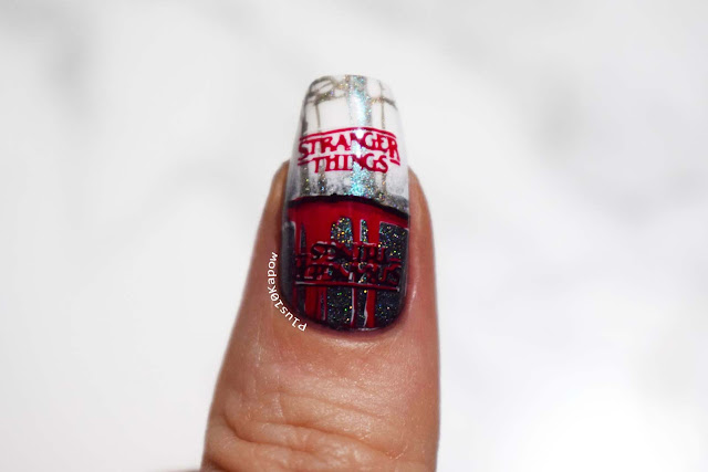 Stranger Things nerdy nails Barry M Molten Metals